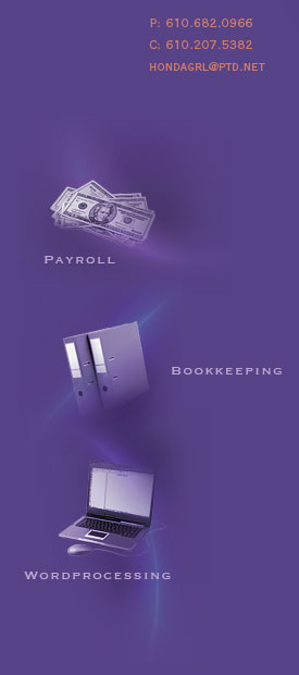 Payroll - Bookkeeping - Wordprocessing